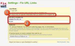 Enable Fix-URL on