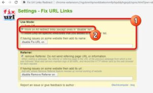 Work on All Redirect links